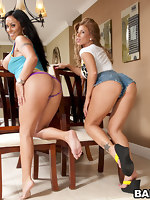 We brought in to big ass superstars of the Porn bizz Mariah Milano & Brooklyn Lee.