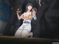 RinXSen: Hakudaku Onna Kyoushi to Yaroudomo. Hentai girl gets caught by horny guys from school, and gets her body used as it should