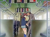 Any place and any time can become suitable for this lecherous couple! Having appeared alone in the train they decide not to waste their time and get indulged into the craziest ride session with dildo pussy and ass penetration, cock jumping and cum swallowing! Click here and enjoy this raunchy action right now! Watch this gallery now!