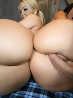 Jayden James and Alexis Texas. These horny busty, big ass sluts ride the cock