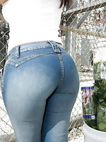 Massive butt girls in jeans
