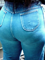 Massive rump girls in jeans